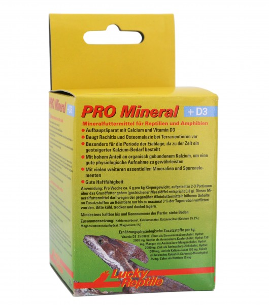 Lucky Reptile PRO Mineral + D3